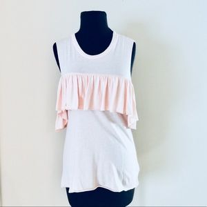 ❗️Truly Madly Deeply Ruffle Pink Top NWT